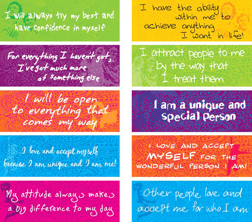 Monster image within free printable affirmation cards